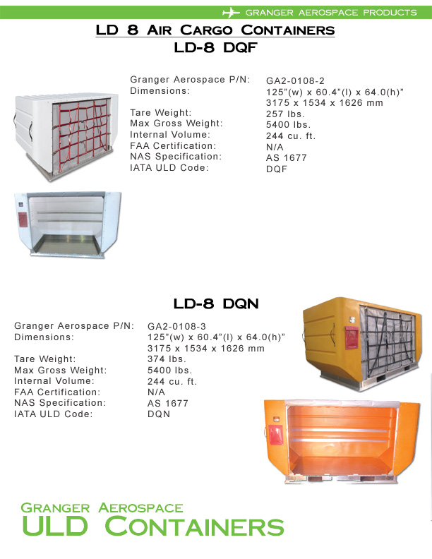 LD 8 Information, LD 8 Specifications, DQF Information, DQF Specifications, DQN Information, DQN Specifications