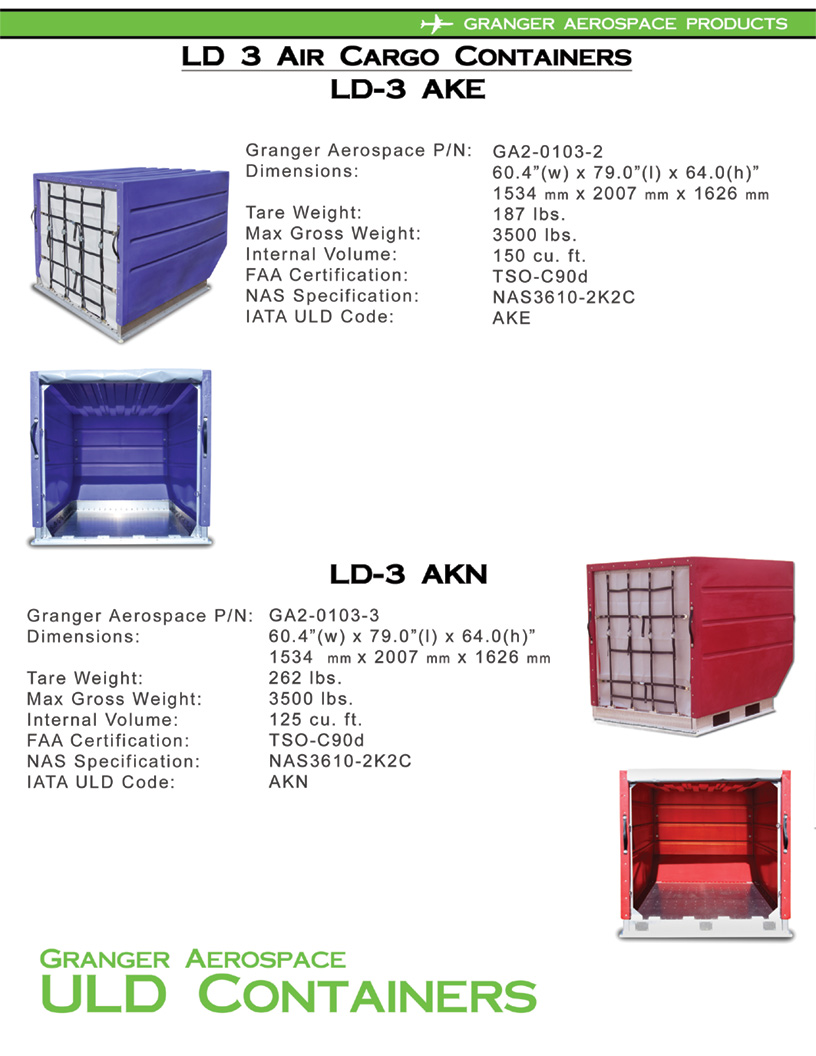 LD 3 Information, LD 3 Specifications, AKE Information, AKE Specifications, AKN Information, AKN Specifications